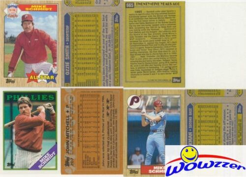 Rare Lot of (9) Different Topps Mike Schmidt ERROR CARDS from 1987-1992 HOF!