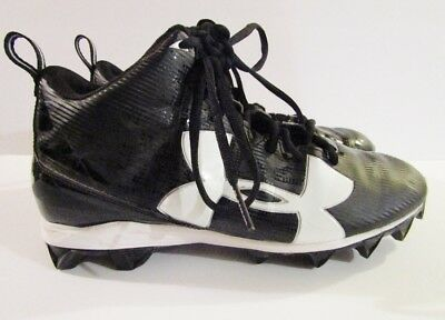 06c2625a806 UNDER ARMOUR Mens Black White Multi Pattern Mid Top Cleats