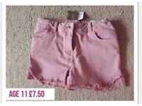 Next denim shorts age 11 brand new with tags