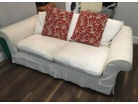 2 seater white sofa - collection required ASAP
