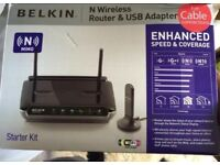 N wireless cable router / extender boxed as new