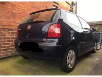 VW POLO 54 plate Blue NON RUNNER. SPARES AND REPAIRS.
