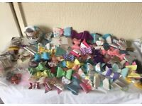 Hair bow making bundle with joblot of handmade bows
