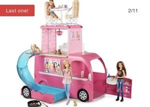Looking for a Barbie camper in very good condition.