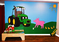Farmyard Mural {Hand-Painted}