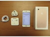 iPhone 7 gold brand new with warranty