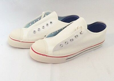 kids tennis shoes canvas sneakers size 3.5 NIB deadstock vintage made in usa