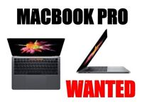 MACBOOK PRO TOUCH BAR WANTED, CAN BUY TODAY.