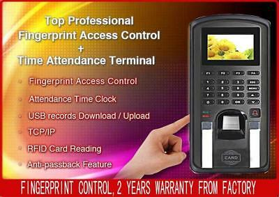 Fingerprint Time Recorder Access Control Lanid Read