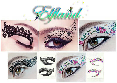 Eye Shadow Augen Lidschatten * Tattoo Aufkleber Sticker * Eye Rock Make up (Augen Make-up Tattoo)