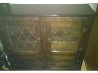 display cabinet solid oak