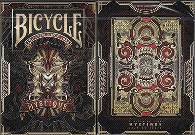 Mystique Red Bicycle Playing Cards Poker Size Deck USPCC Custom Limited Sealed