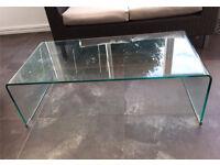 Habitat 'Gala' low glass coffee table