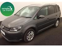ONLY £223.62 PER MONTH GREY 2013 VW TOURAN 1.6 SE DIESEL MANUAL 7 SEATS