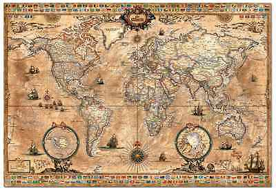 jigsaw puzzles 1000 pieces antique world map educa