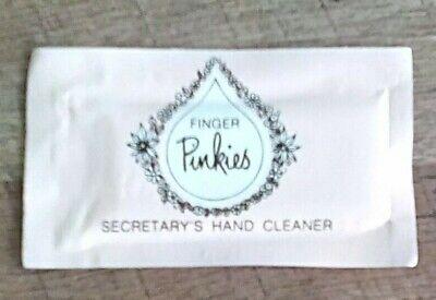 Vintage Gillette FINGER PINKIES Moist Towelette Wash Packets Wet-Nap