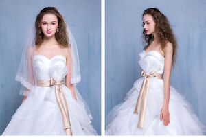 Tulle Ball Gown Wedding Dress with Chapel Train
