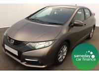 £197.14 PER MONTH BROWN 2012 HONDA CIVIC 1.8 VTEC ES-T HATCHBACK PETROL MANUAL