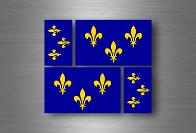 4x sticker flag car french king r2 bumper vinyl adhesive fleur de lis france (French Flag Bumper Sticker)