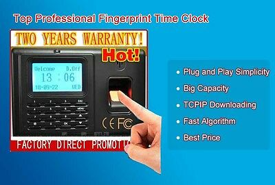 Lcd Fingerprint Pin Employee Attendance Time Clock Biometric Tcpip System