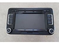 Genuine VW RCD 510 DAB DOUBLE DIN SCIROCCO PASSAT GOLF 6 CD PLAYER STEREO & CODE NOT RNS510
