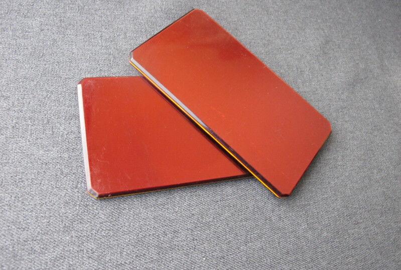 2 Vintage metallic red large poker chips