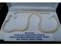 BRAND NEW GENUINE 9CT GOLD AND PEARL NECKLACE RRP £99.99
