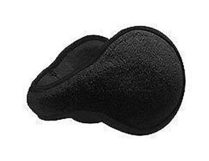Solid-Plain-Black-Foldable-Fleece-Ear-Warmers-Muffs