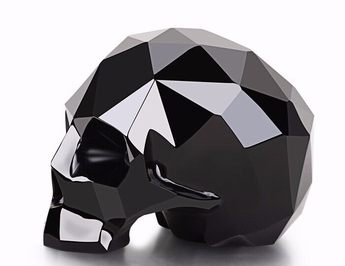 "3.9"" BLACK OBSIDIAN Carved Crystal Skull, Realistic, Crystal Healing #S821"