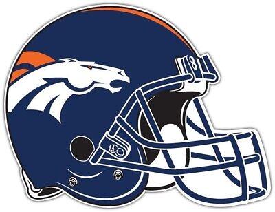 NFL Helm Sticker Aufkleber Decal - DENVER BRONCOS HELMET - ca.12 x 9,5cm