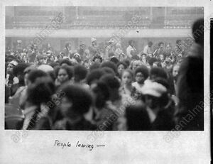 1972 Angela Davis COMMUNIST Black Activist Atlanta Speech Crowd Press Photo