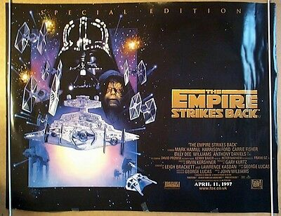 Rare Star Wars Cinema Re Release Poster The Empire Strikes Back & ROTJ