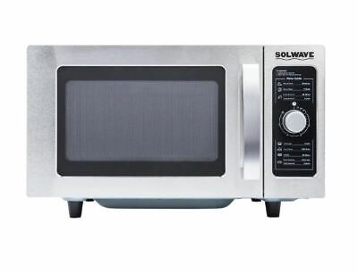 Stainless Steel Commercial Countertop Microwave With Dial Control - 120v 1000w