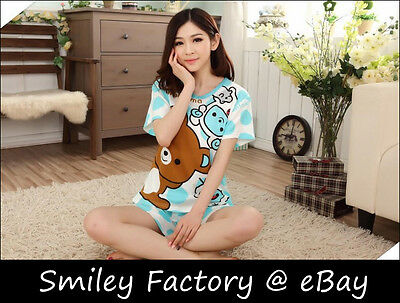 1set Sweet Rilakkuma San-X Lounge Pant Sleep Pajama Sleepware Clothing