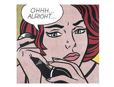 Ohhh...Alright..., 1964 by Roy Lichtenstein Art Print Pop Poster 11x14