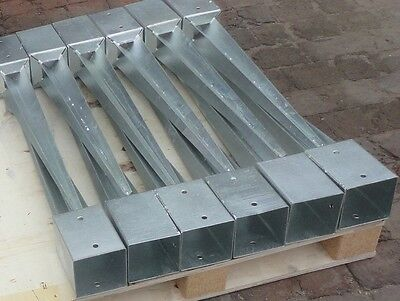 6 x 100mm GALVANISED FENCE POST SUPPORT SPIKES DRIVE DOWN TIMBER POST HOLDER