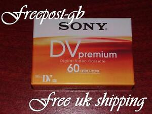 UK-FREE-SHIPPING-SONY-PREMIUM-60-MINI-DV-CAMCORDER-TAPE-CASSETTE-SINGLE