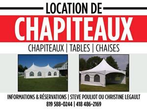 Location de chapiteau / rental party tent