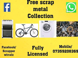 We collect all types of scrap metal completely free of charge