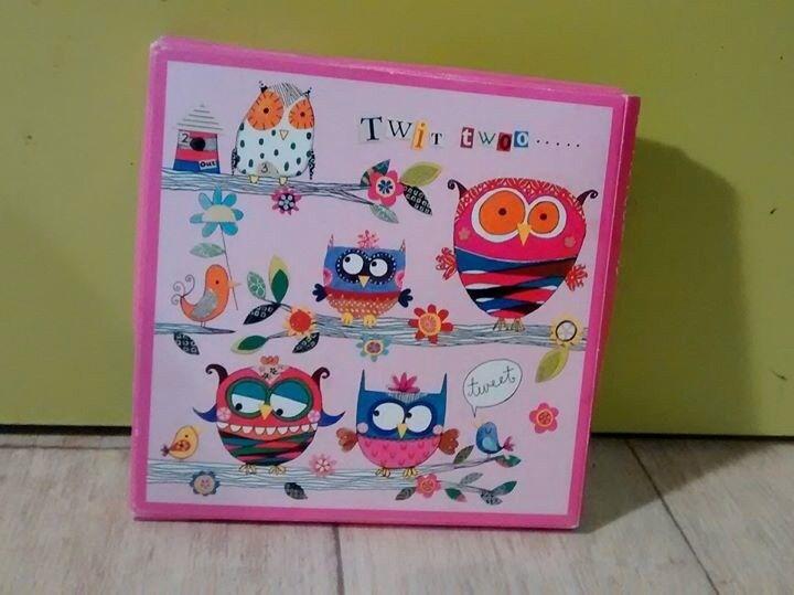 Cute owl card set x10 NEW