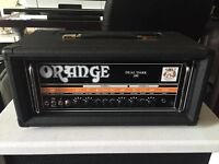 Orange Dual Dark 100W DD100H Guitar Head amplifier incl. cover and footswitch