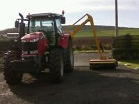 Man with Tractor, grass cutting/ Bush Whacking, topping