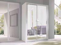 🔥💗🔥CHEAPEST PRICE OFFERED💥💥BRAND New Berlin Full Mirror 2 OR 3 Door Sliding Wardrobe in 5 sizes
