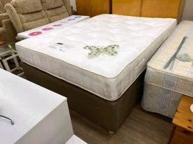 Used kingsize divan with mattress
