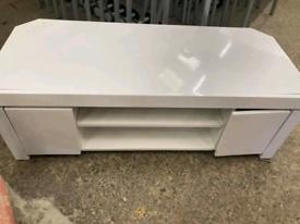 White high gloss tv unit £30