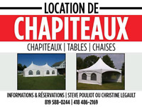 Location de chapiteau /party tent (20x20) (20x40) (20x60)...