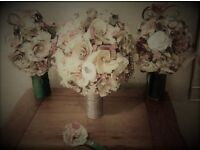 Hand crafted Wedding Paper Rose Bouquet, perfect as a keepsake or gift.