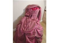 Beautiful taffeta prom dress size 10 - open to offers