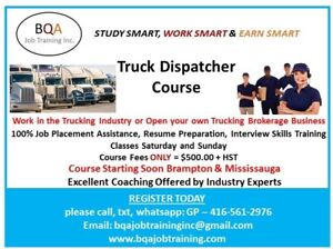 TRUCK DISPATCHER COURSE STARTING SOON - 4 WEEKENDS ONLY