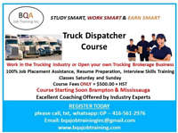 DISPATCHER COURSE CAN GET YOU OFFICE JOB IN 4 WEEKS